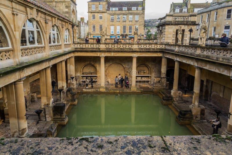 Roman Baths, allgemeine Badeanstalt in der Römerzeit lizenzfreie stockbilder