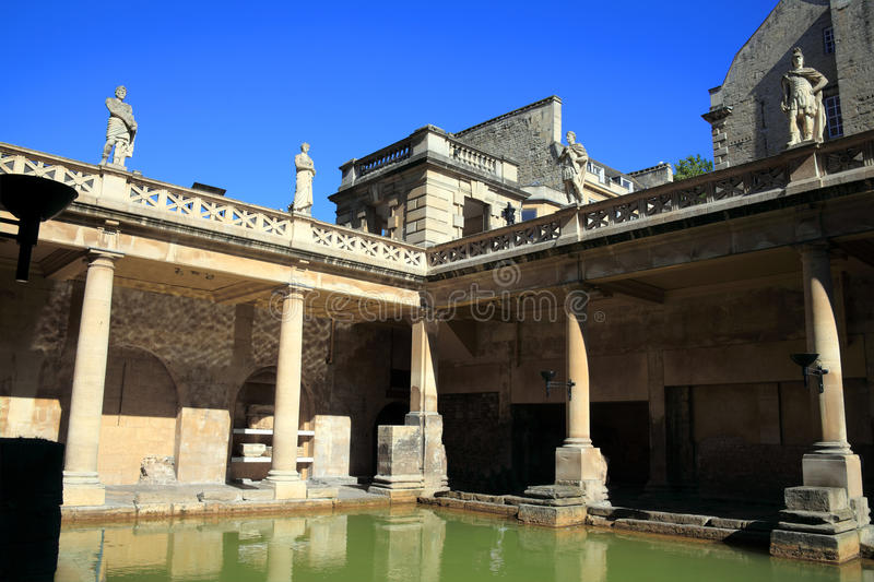 Roman Baths in Bath royalty free stock photo