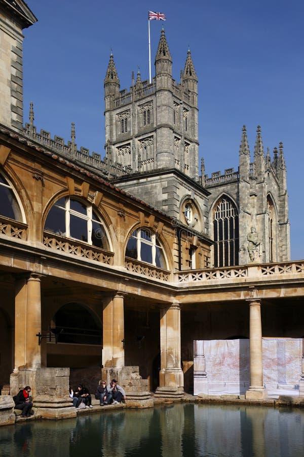 Download Roman Baths & Bath Abbey - England Editorial Image - Image: 20066160