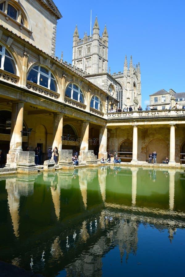 Roman baths house royalty free stock photo