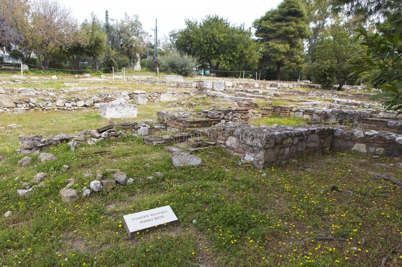 Roman baths from Athens. Roman baths ruins from Athens, Greece stock photo