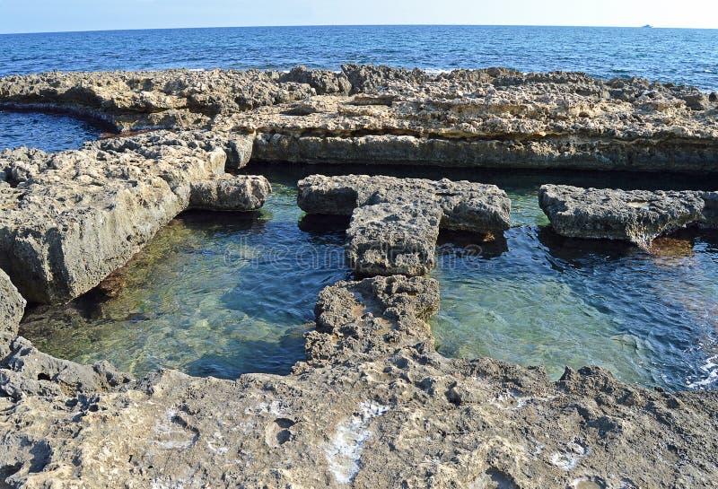 Roman Baths In The Sea imagens de stock