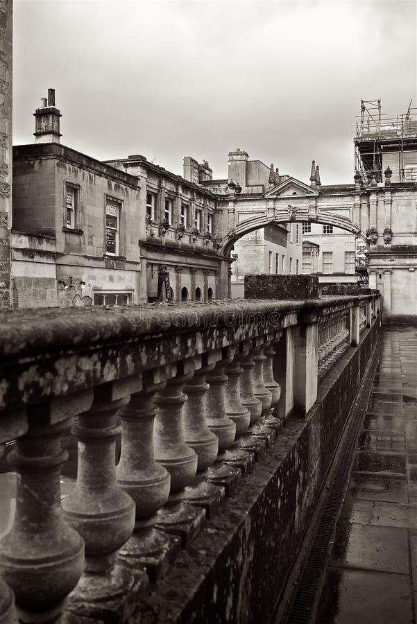 Roman Baths Terrace United Kingdom fotografia de stock royalty free