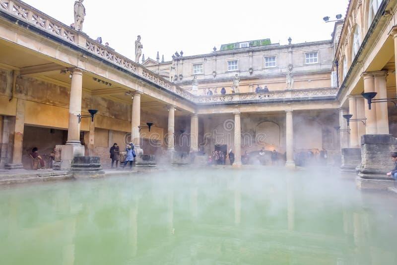 Roman Baths in UK royalty free stock image