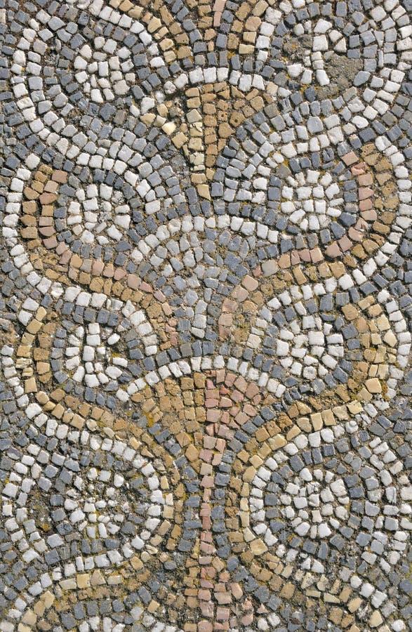 roman belägga med tegel för mosaik royaltyfria foton