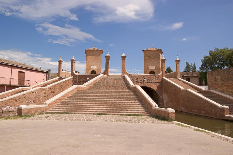 Download Roman Brick Bridge In Comacchio (Italy) Stock Image - Image: 15428029