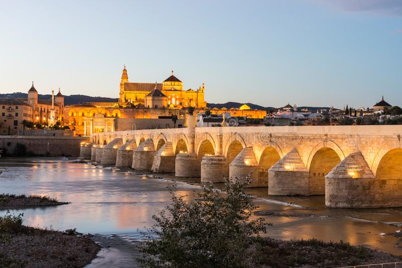 Roman bridge in Cordoba, Andalusia, southern Spain stock photography