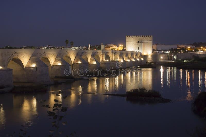 Roman bridge in Cordoba stock images