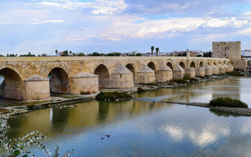 Roman Bridge of Cordoba, Spain stock photo