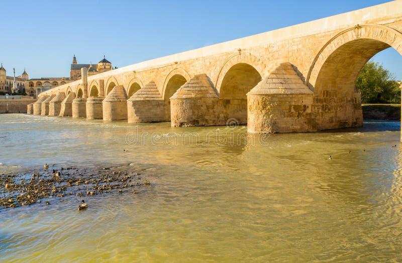 The Roman bridge, Cordova, Andalusia, Spain. stock image