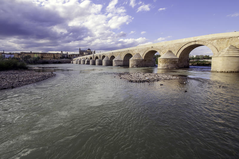 Roman bridge of Cordova. Placed on the river The Guadalquivir to his step along Cordova. Acquaintance like ` the Old Bridge ` was the only bridge with which it royalty free stock photos