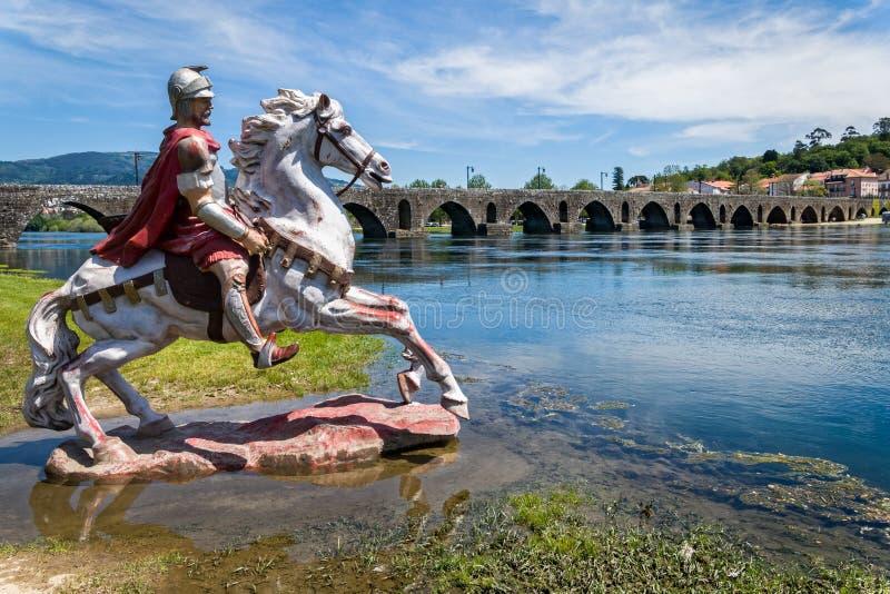 Roman Bridge en Ponte de Lima, Portugal imagen de archivo libre de regalías