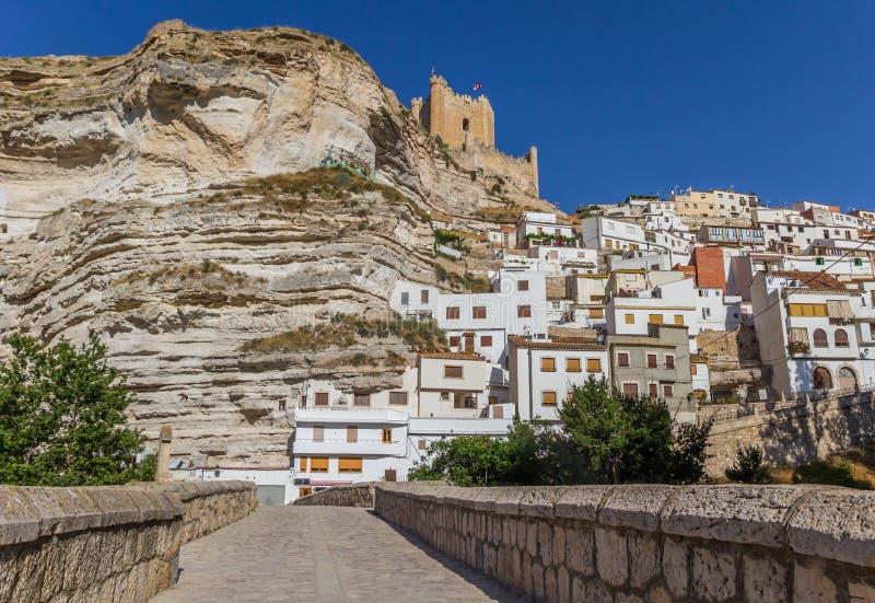 Roman bridge leading to Alcala del Jucar. Spain royalty free stock photography