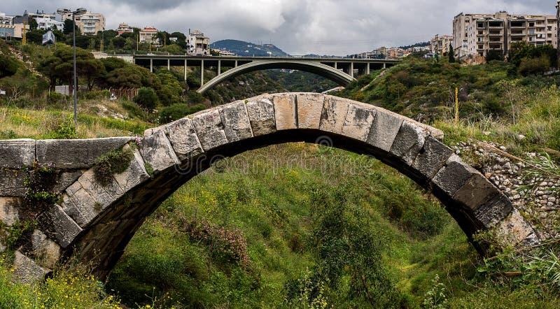 Roman Bridge, Maameltein stock foto's