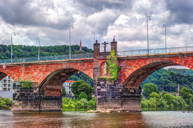 Roman Bridge no Trier fotografia de stock royalty free
