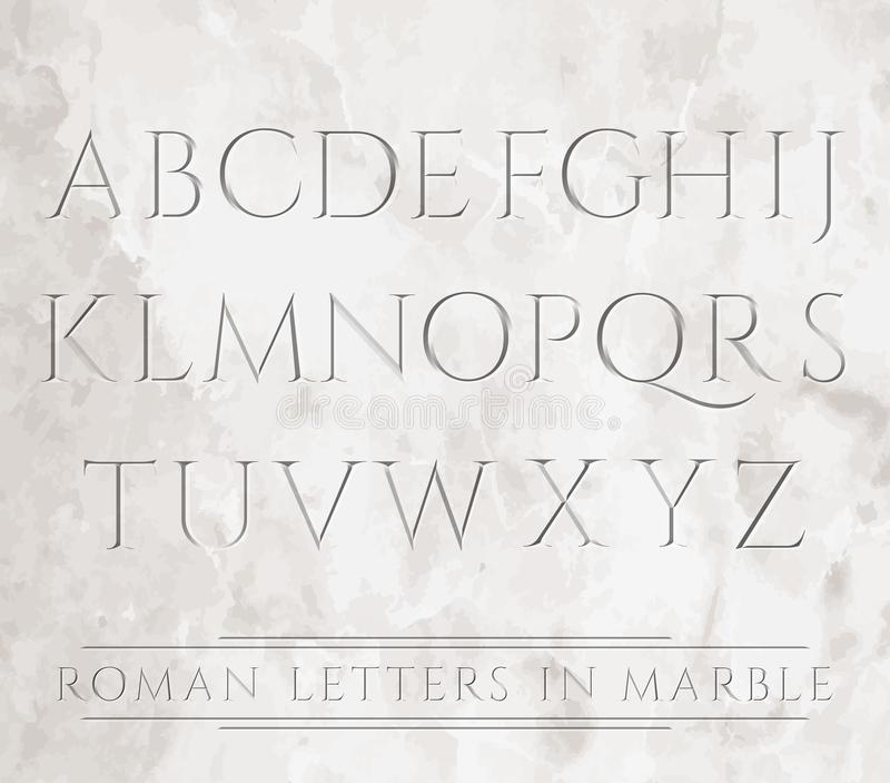 Roman brieven in steen vector illustratie