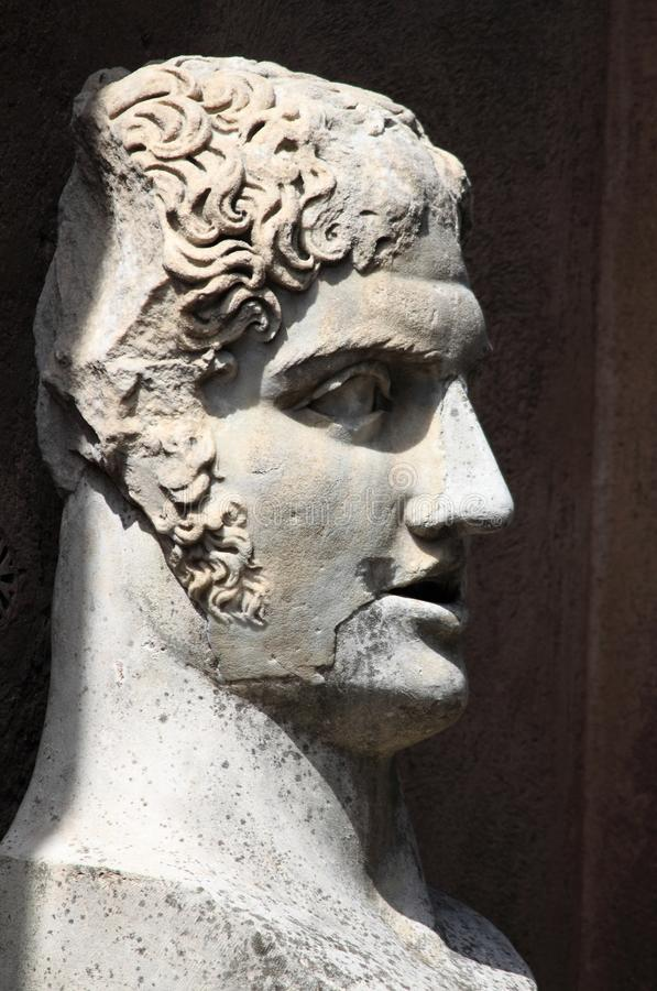 Roman bust stock images