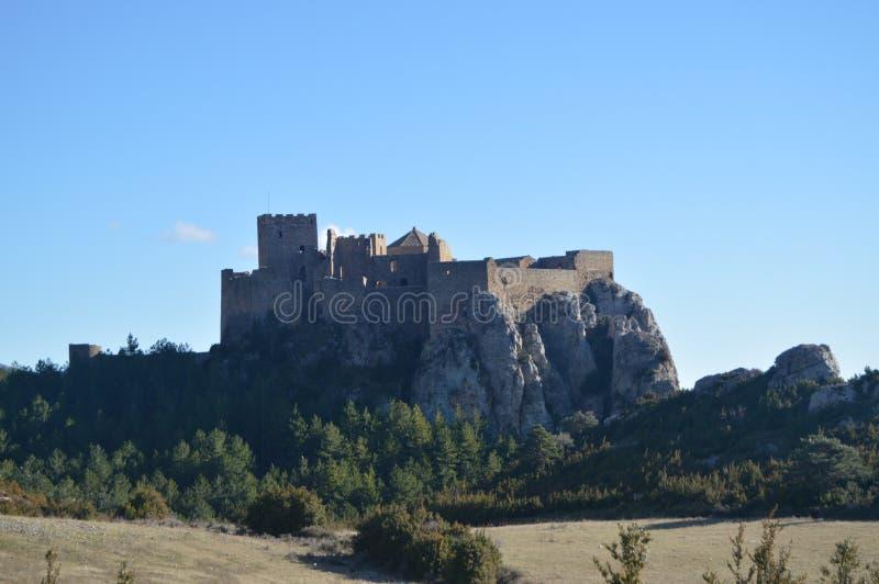 Roman Castle Of Loarre Dating vom 11. Jahrhundert, das es von König Sancho III in Loarre-Dorf errichtet wurde Landschaften, Natur stockbilder