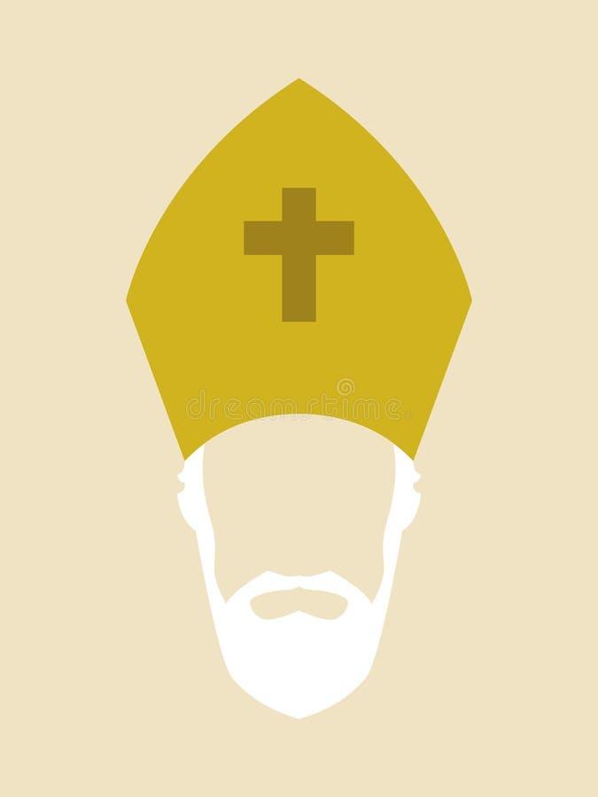 Roman Catholic Archbishop ilustração do vetor