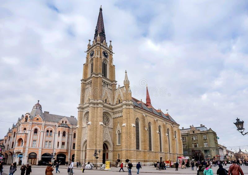 Roman Catholic Cathedral in Novi Sad, Serbia royalty free stock images