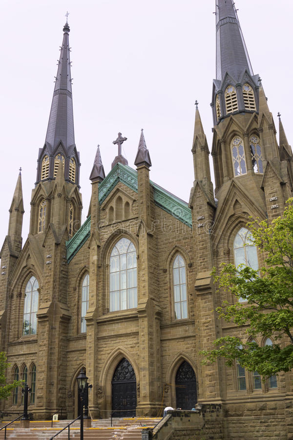 Roman Catholic Cathedral St.-Dunstans in Charlottetown in Canad lizenzfreie stockfotos