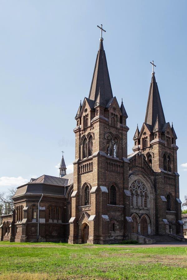Roman catholic church. Of St. Nicholas in Dneprodzerzhinsk, Ukraine, built in the 19th century royalty free stock photo