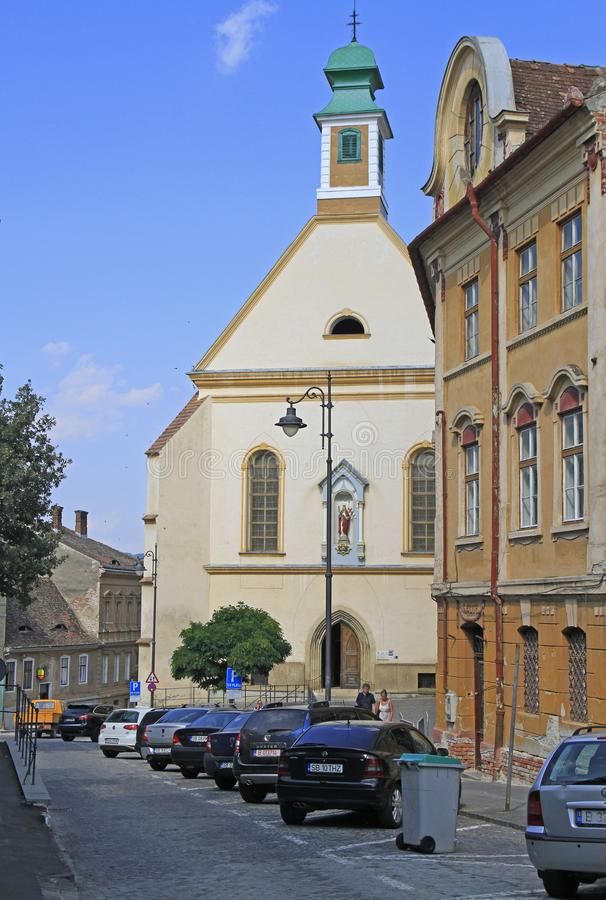 Roman Catholic Church av St Ursula royaltyfri fotografi