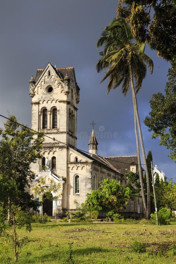 Roman catholic church - Bagamoyo royalty free stock image
