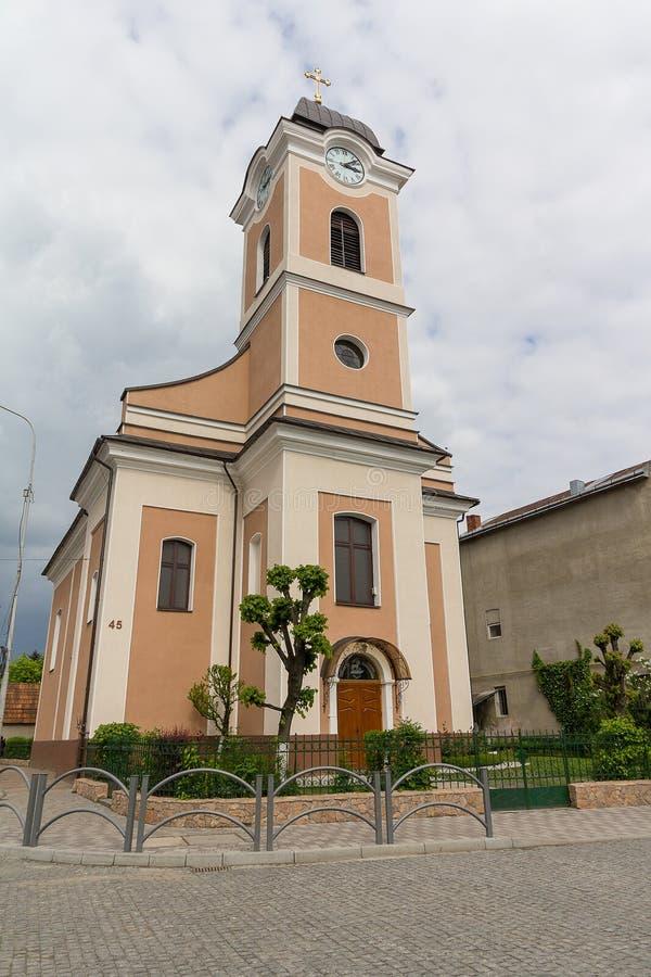 Roman Catholic Church in the city of Hust stock photos