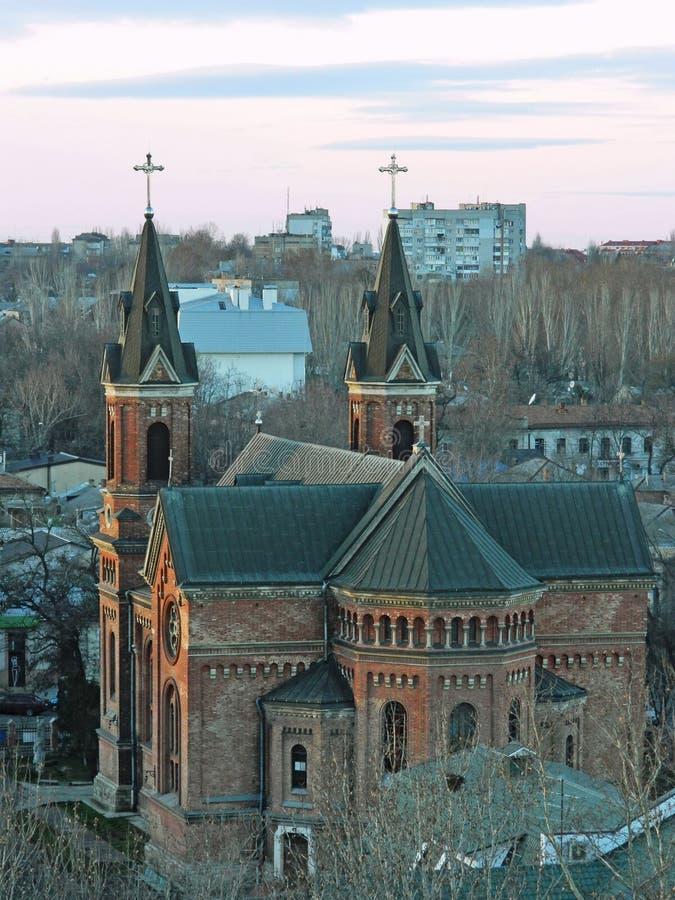 Roman Catholic Church dans Mykolaiv, Ukraine photo stock