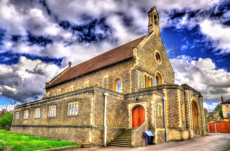 Roman Catholic Church de St James na leitura imagens de stock