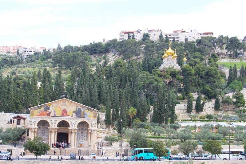 Roman Catholic Church de toutes les nations, de l'église ou de la basilique de l'agonie, Jérusalem photos stock
