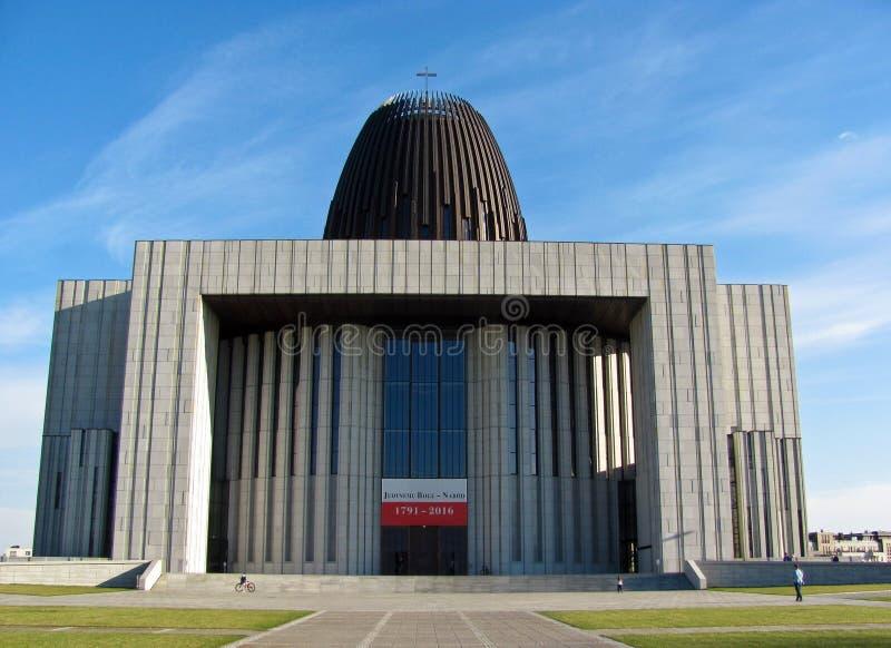 Roman Catholic Church del centro di provvidenza divina varsavia poland fotografia stock