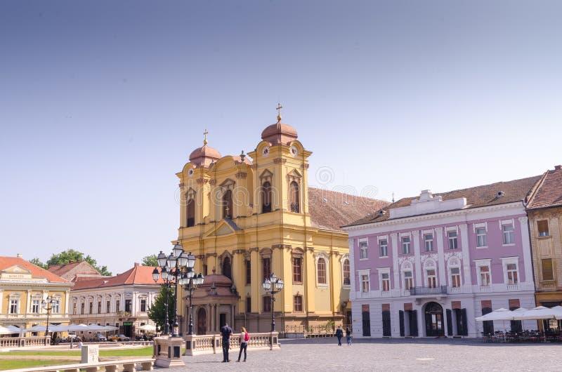 Roman Catholic Church - Dome St. George - Union Square -Timisoara stock images