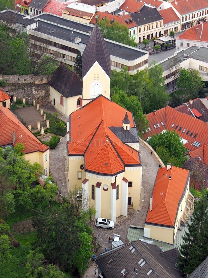 Roman Catholic Church i Trencin, Slovakien royaltyfri bild