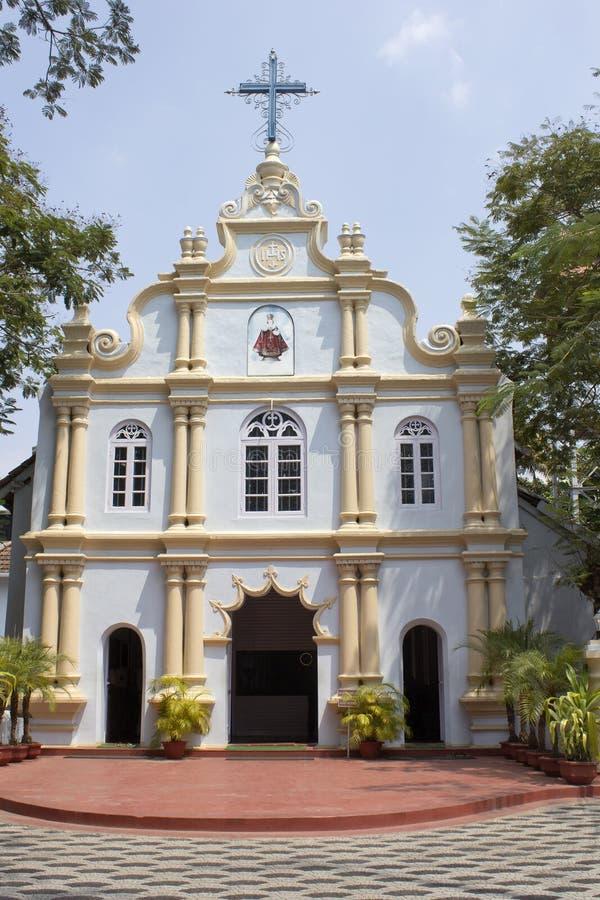 Roman-Catholic church in India. FEBRUARY 18, 2014, ERNAKULAM, KERALA, INDIA - Roman-Catholic curch of the Infant Jesus in Ernakulam stock photos