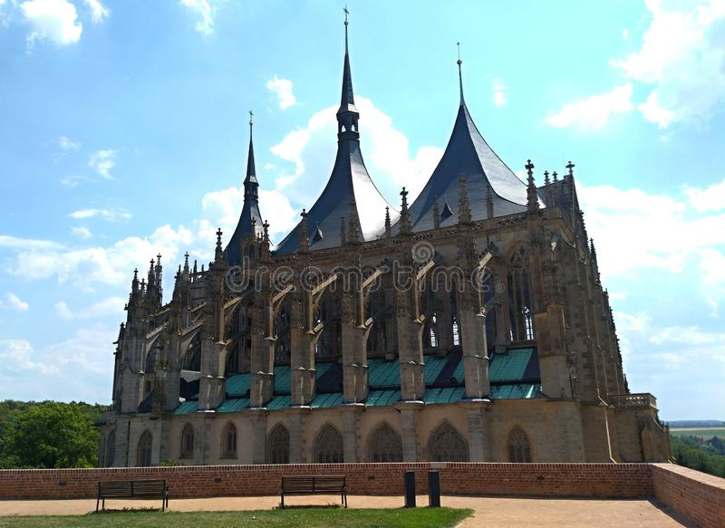 Roman Catholic church in Kutna Hora in the Czech Republic royalty free stock photography
