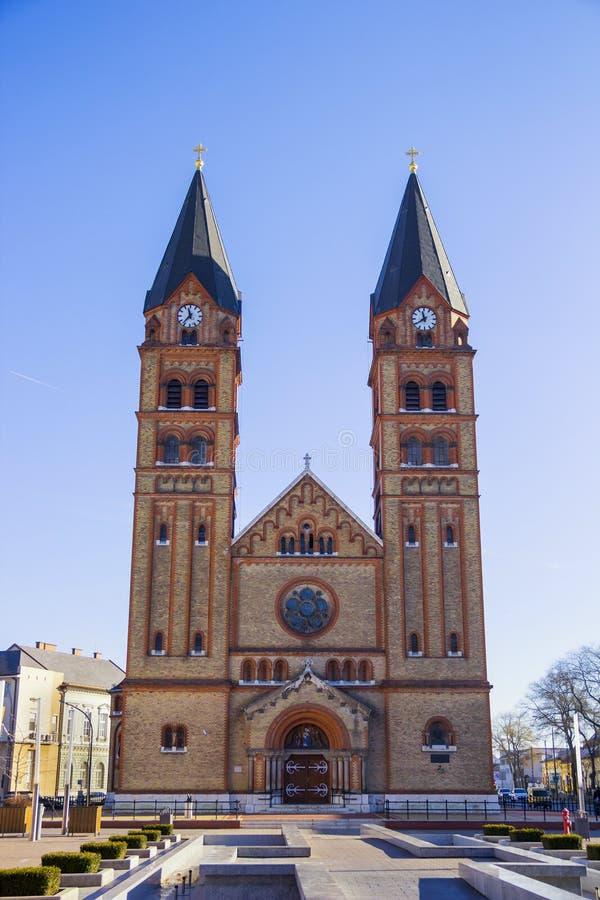 Roman Catholic Church, Nyiregyhaza, Hungria fotografia de stock
