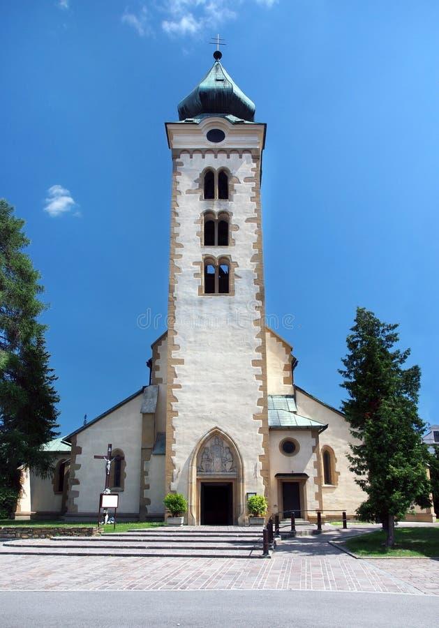 Roman-Catholic church of Saint Nicolaus stock photos