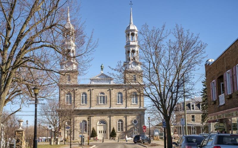 Roman Catholic Church in St-Eustache stock photo