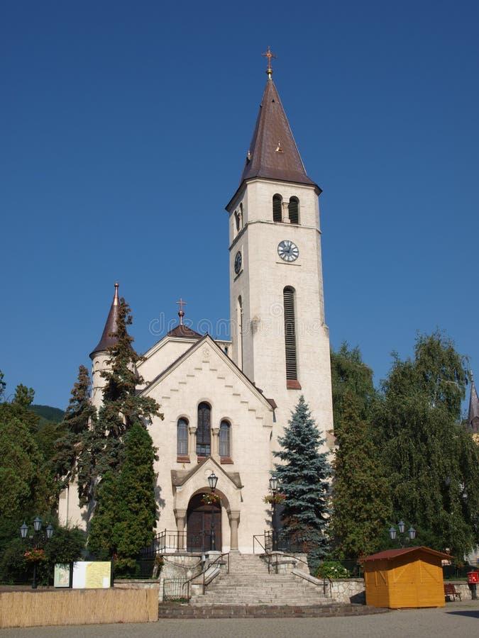 Roman Catholic church of Tokaj stock photo