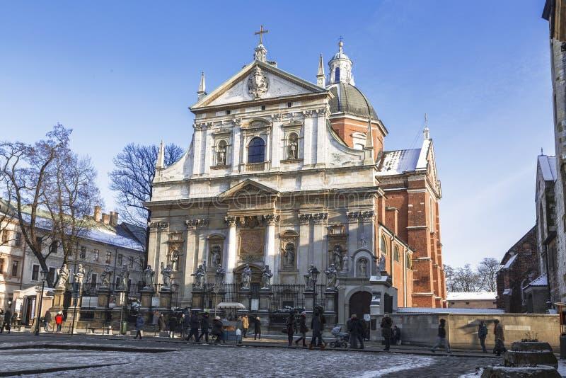 Roman Catholic Church von Heiligen Peter und Paul in Krakau, stockfotos