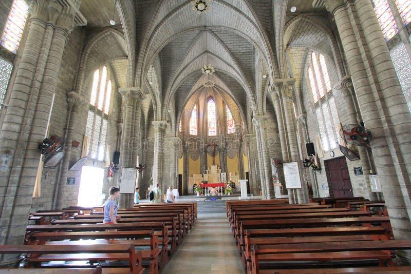 Roman Catholic Diocese in Nha Trang stock afbeelding