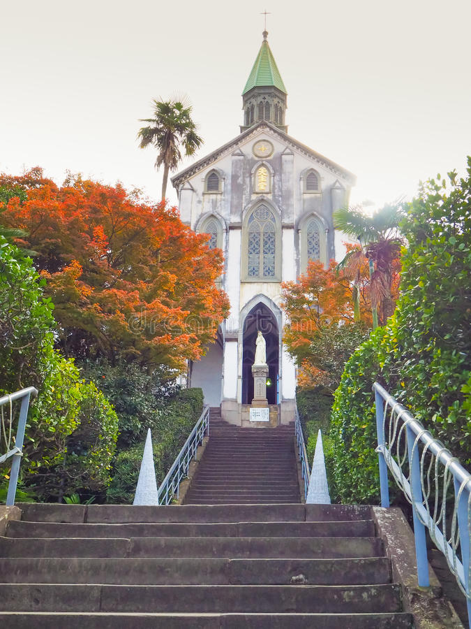 Roman Catholic Oura Church in Nagasaki royalty-vrije stock afbeeldingen
