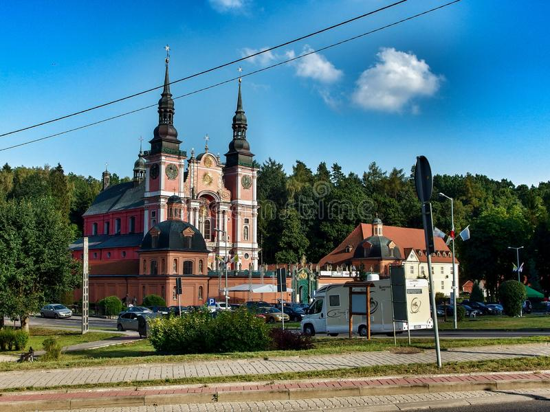 General view on the Sanctuary of St. Mary in ÅšwiÄ™ta Lipka in Poland royalty free stock photo