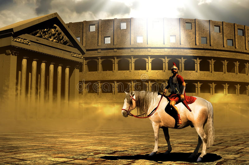 Download Roman centurion stock illustration. Image of grunge, determination - 22271525