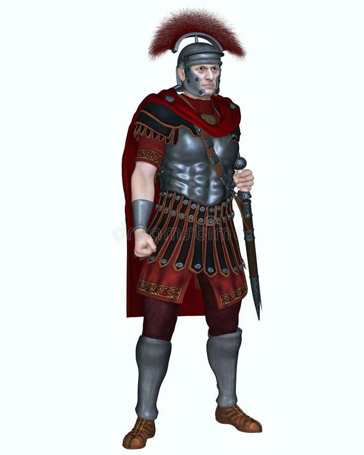 Roman Centurion con la cresta transversal stock de ilustración