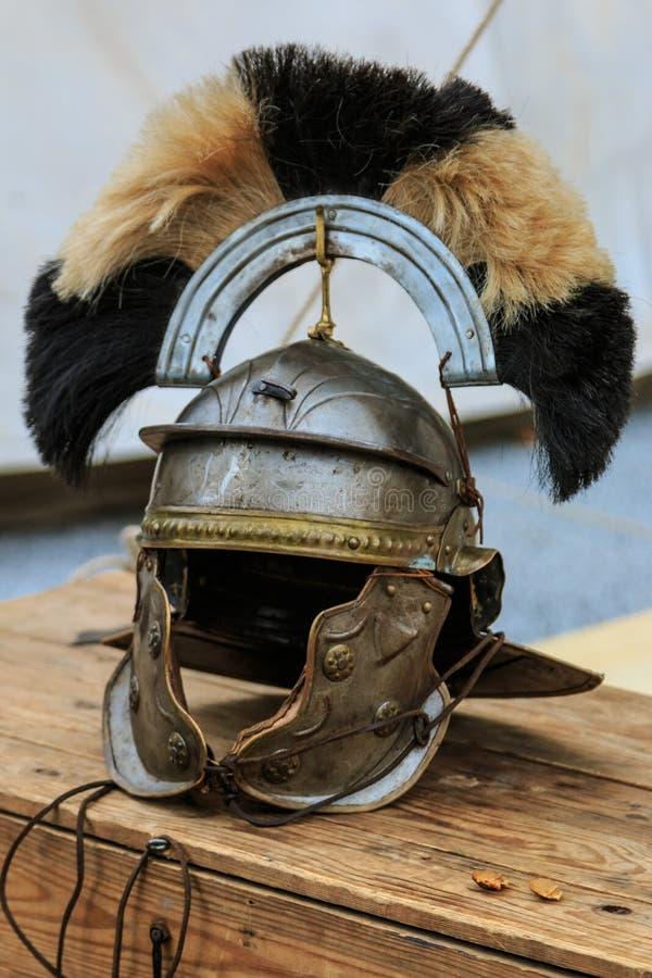 Roman centurion helm stock foto