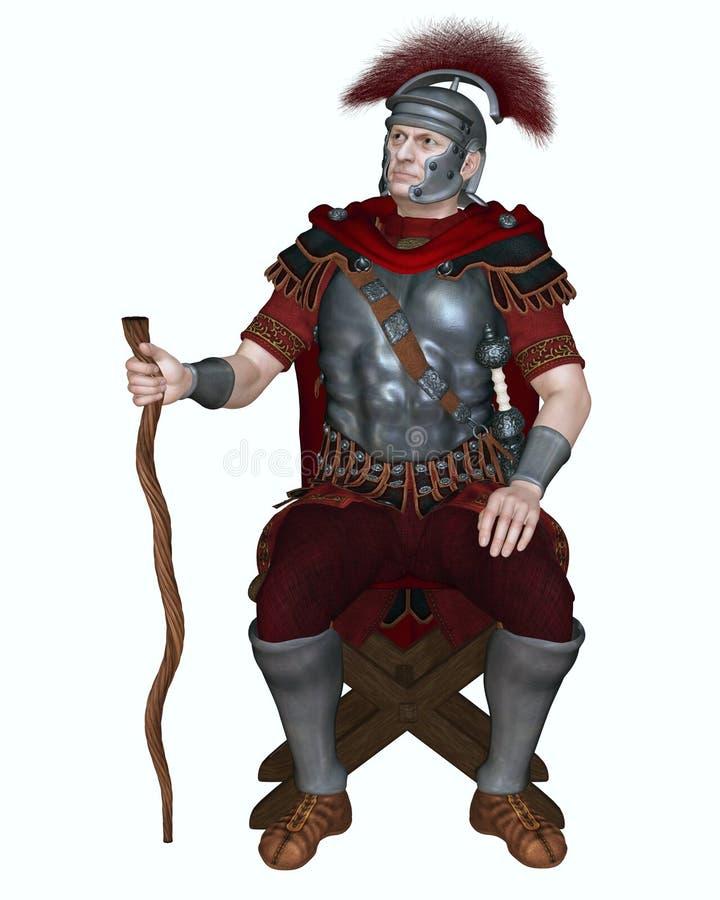Roman Centurion mit Querkamm-und Rebpersonal stock abbildung