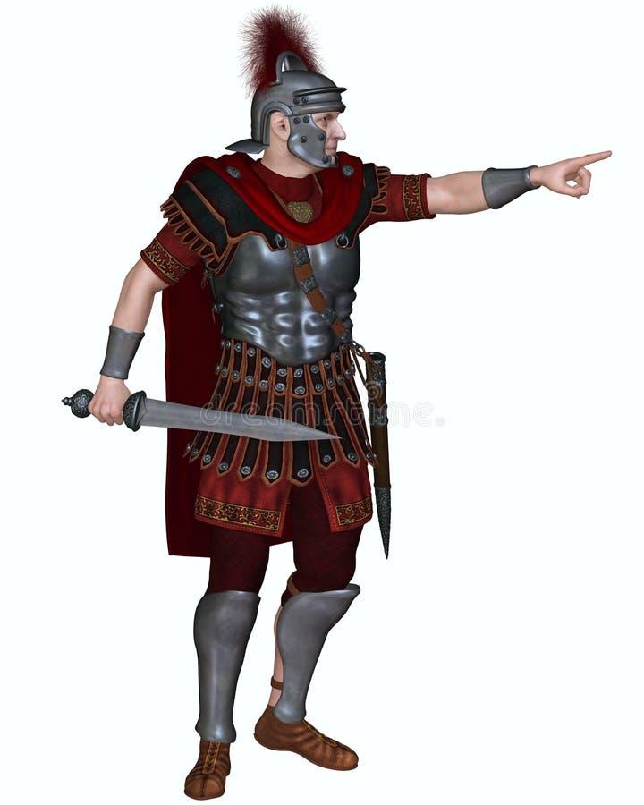 Roman Centurion Ordering um ataque ilustração royalty free